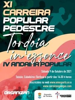 """XI CARREIRA POPULAR PEDESTRE """"TORDOIA IN ESSENCE"""" 2021"""
