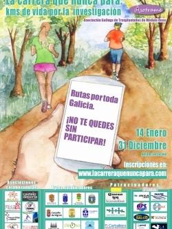 A CARREIRA QUE NUNCA PARA: QUILÓMETROS DE VIDA POLA INVESTIGACIÓN - CARREIRA SOLIDARIA ONLINE 2021